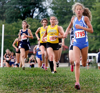 09/04/2010 Two miles into the race  Brunswick's Selena Pasadyn has taken the lead. Photo by Tom Mahl