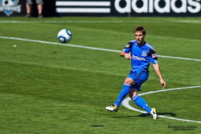 SANTA CLARA, CA - JUNE 25: Player Bobby Convey(11) with a ball during the MLS soccer game Earthquakes vs LA Galaxy, on June 25, 2011 at the Buck Shaw Stadium in Santa Clara, CA.
