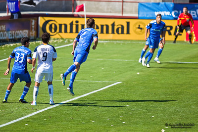 SANTA CLARA, CA - JUNE 25: Players compete during the MLS regular season soccer game Earthquakes vs LA Galaxy, on June 25, 2011 at the Buck Shaw Stadium in Santa Clara, CA.