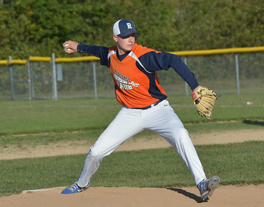 Noah Crosby delivers a pitch for the Raiders. (Paula Roberts photo)