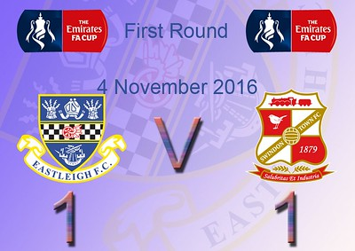 Eastlegh (1) v Swindon Town (1) FA Cup 1st Round 4.11.2016