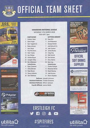 Eastleigh (0) v Leyton Orient (0) 17.3.2018