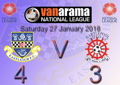 Eastleigh (4) v Hartlepool United (3) 27.1.2018