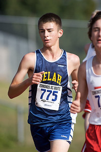 Brentton Leeper of Selah at the Edmonds Invitational Cross Country meet.