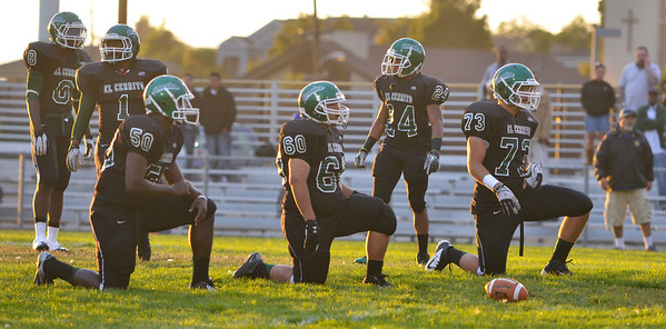 El Cerrito Gauchos vs Newark Memorial Cougars. The Gauchos won 44-7 August 31, 2012. Photo by Ian Billings