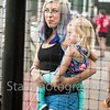 Star Photo/Larry N. Souders<br /> Two year old Maya Stanley of Johnson City enjoys her very first baseball game with momma Kelly as the Twins beat the Astros 14-7 to force a game three Tuesday night.
