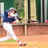 Star Photo/Larry N. Souders<br /> Kolton Kendrick (23) crushes this pitch for a three RBI  homer on a line drive to right field, it's the E-Twins first home run of the season.