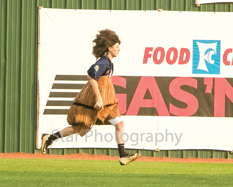 Star Photo/Larry N. Souders<br /> As seems to happen at every Twins home game a streaker was spotted once again in the outfield between the first and second inning of Thursday nights game.