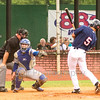 Star Photo/Larry N. Souders<br /> The Twins Mark Contreras (5) is hit by pitch in the bottom of the second inning.
