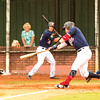 Star Photo/Larry N. Souders<br /> The Twins Shane Carrier (8) singles on a ground ball to shortstop Jeison Guzman.