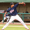 Star Photo/Larry N. Souders<br /> Starting pitcher Brusdar Graterol (45) pitched five strong innings allowing only two runs to earn a win as the Twins defeated the Royals Friday night.
