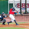 Star Photo/Larry N. Souders<br /> The Twins T.J. Dixon (41) delivers an RBI single in the bottom of the second inning.