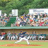 Star Photo/Larry N. Souders<br /> Twins starting pitcher Huascar Ynoa (45) fires a second inning strike in front os a large crowd Monday night at Joe O'Brien Stadium.