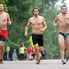 A trio of competitors run during Saturday's Elysian Rookies Triathlon. Photo by Pat Christman