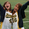 Emi and her friend Charly at track meet at Notredame‏ Track Meet<br /> Emi came in 2nd in the mile against 5 other schools...  6:30 mile...