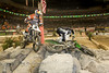 This is the Start of the Pivot Turn where Geoff Aaron wheelied his bike over Ricky Dietrich - Endurocross Finals in Las Vegas - Photo by Pat Bonish