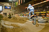 Launching off a Log Ramp - Taddy Blazusiak at the Endurocross Finals in Las Vegas - Photo by Pat Bonish