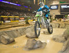 Riding on Air over the Water Crossing - Las Vegas Finals of Endurocross - Photo by Pat Bonish