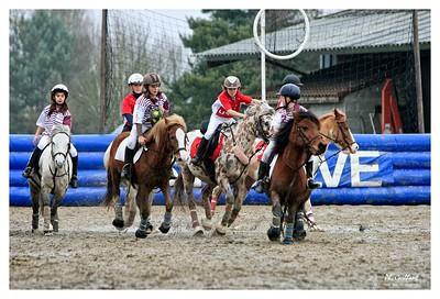 Concours horseball à la Croix d'Hins en Gironde (France) le 7 février 2010