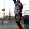 Lauren Murphy-Payne of Erie pitches against Lamar in the 3A state tournament.<br /> Cliff Grassmick / October 23, 2009