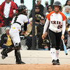 "Erie High School's Samantha Foster walks back to the dugout after striking out during a game against Wheat Ridge High School on Saturday, Oct. 20, at the Aurora Sports Park in Aurora. Erie Lost the game 6-4. For more photos of the game go to  <a href=""http://www.dailycamera.com"">http://www.dailycamera.com</a><br /> Jeremy Papasso/ Camera"