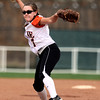 "Erie High School's Carrie Clarke throws some heat during a game against Pueblo East High School on Saturday, Oct. 20, at the Aurora Sports Park in Aurora. Erie Lost the game 6-4. For more photos of the game go to  <a href=""http://www.dailycamera.com"">http://www.dailycamera.com</a><br /> Jeremy Papasso/ Camera"