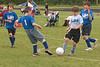 Erik works thru three players in this offensive play during the round robin tournament.