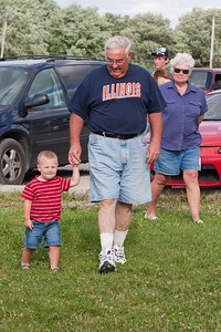 A family affair!  Grandma and Grandpa were there - significant adult help to be sure!