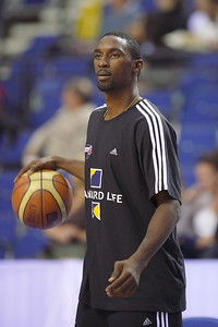 Great Britian v Bosnia & Herzegovina (26.08.10) - NBA Detroit Pistons star, Ben Gordon, attends GB Standard Life double header in Liverpool. Despite his ankle injury that has kept him from playing in this summer's EuroBasket qualifying campaign, Gordon is in Liverpool illustrating his commitment to GB and supporting the teams