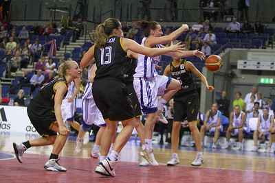 Great Britian v Germany (26.08.10) - GB Standard Life women booked their place in the EuroBasket finals for the first time with a 77-59 demolition of Germany at the Liverpool Echo Arena