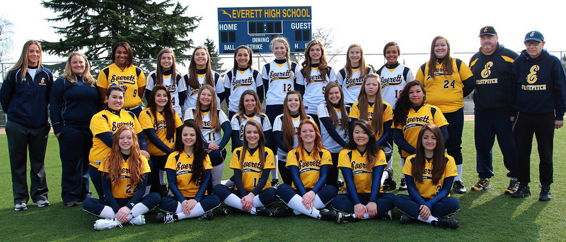 Everett Softball-coaches 2013