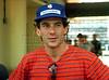 Brazilian Formula 1 race car driver Ayrton Senna concentrates during a training session at the Jacarepagua race track in Rio de Janeiro, Brazil, March 18, 1990.(FOTO:AUSTRALFOTO/RENZO GOSTOLI)