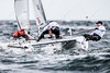 Third placed Glenn Ashby and Brett Goodall from Australia during the penultimate day of F18 Sailing World Championship in Kiel, Germany.