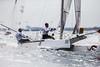 Anspruchsvolle Bedingungen herrschten beim vorletzten Regattatag bei den F18 Sailing World Championship vor Kiel. Die Australier Glenn Ashby und Brett Goodall arbeitetem sich auf Rang drei vor - SPO / SEGELN / KIEL / OSTSEE / SPORT / AKTION / WASSER / MEER / WELLEN / WM / KATAMARAN / WELTMEISTERSCHAFT / 2015