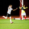 S1104SOCCER1.jpg S1104SOCCER1<br />  Fairview's #10, Darragh O'Neill screams in joy after his last second goal against Chaparral in the end of the first half.<br /> <br /> Photo by: Jonathan Castner