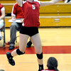 "Fairview High School's Ali Carleton spikes the ball in their match against Cherry Creek High School on September 6, 2011. FOR MORE PHOTOS GO TO  <a href=""http://WWW.DAILYCAMERA.COM"">http://WWW.DAILYCAMERA.COM</a><br /> Photo by Paul Aiken / The Camera / September 6 2011"