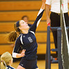 S0925LEGACY7<br /> Legacy's #6, Aleka Stevens pushes the ball over the net during Legacy's 3-0 game win over Fairview at Legacy High School on Monday evening, September 24th, 2012.<br /> <br /> Photo by: Jonathan Castner