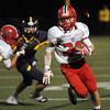 """CARL RUSSO/Staff photo. Central Catholic's captain, Cody Demers finds running room. Central defeated Andover 26-7 in Friday night football action. FOR MORE PHOTOS GO TO  <a href=""""http://smu.gs/19G3xGH"""">http://smu.gs/19G3xGH</a>. 9/27/2013."""