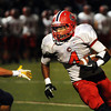 """CARL RUSSO/Staff photo. Central Catholic's captain, D'Andre Drummond-Mayrie finds plenty of running room. Central defeated Andover 26-7 in Friday night football action. FOR MORE PHOTOS GO TO  <a href=""""http://smu.gs/19G3xGH"""">http://smu.gs/19G3xGH</a>. 9/27/2013."""