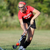 MARY SCHWALM/Staff photo  North Andover's Emma Johns controls the ball during a field hockey game against Methuen. 9/11/13