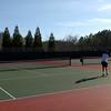 Singles match vs St. David's School
