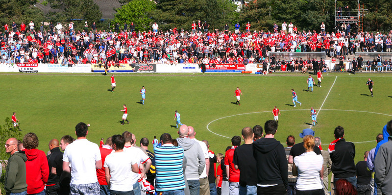 FC United from the Hill -  Colwyn Bay