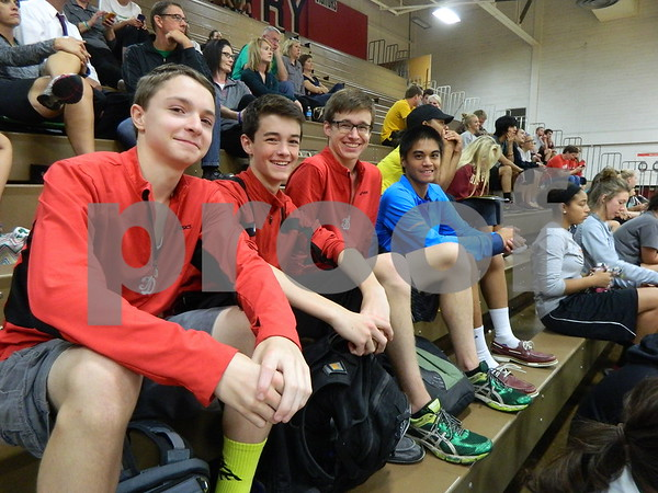 Left to right: Jeremy Brower, Eli Asey, Caleb Asey, and Andre Flores.