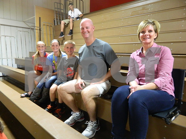 Left to right: Karlee Grove, Molly Hartman, Cal Hartman, Mark Hartman, and Shelly Hartman
