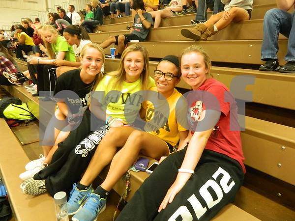 Left to right: Gabby Constable, Ally Martin, Alexis Lessmeier, and Shelby Jacobson