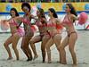 Cheerleaders dance during a break between the matches during the FIFA Beach Soccer World Cup semi-final match in Rio de Janeiro, Brazil, Nov. 10, 2007. (FOTO:AUSTRAL FOTO/RENZO GOSTOLI)