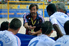 France's beach soccer team coach Eric Cantona talks to his players during the FIFA Beach Soccer World Cup semi-final match in Rio de Janeiro, Brazil, Nov. 10, 2007. Brazil won  6-2. (Australfoto/Renzo Gostoli)
