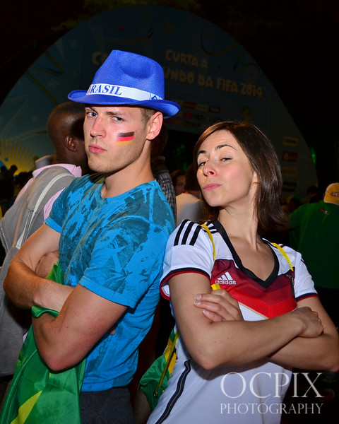 Guy and girl at FIFA Fan Fest