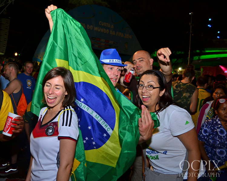 Posing for the camera at the FIFA Fan Fest in Brazil 2014