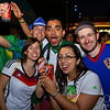 Fans having fun in Sao Paolo Brazil during Fan Fest - World Cup